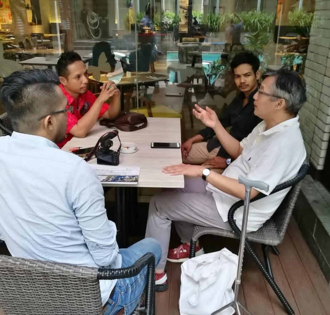 Ketua Umum Lembaga Kontrol Sosial Media berdiskusi Bersama Ketua Umum Green Voice