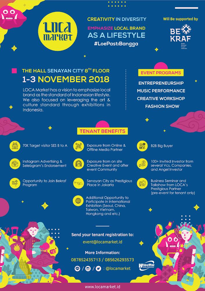 LOCA (Local Creativities & Arts) Market 2018
