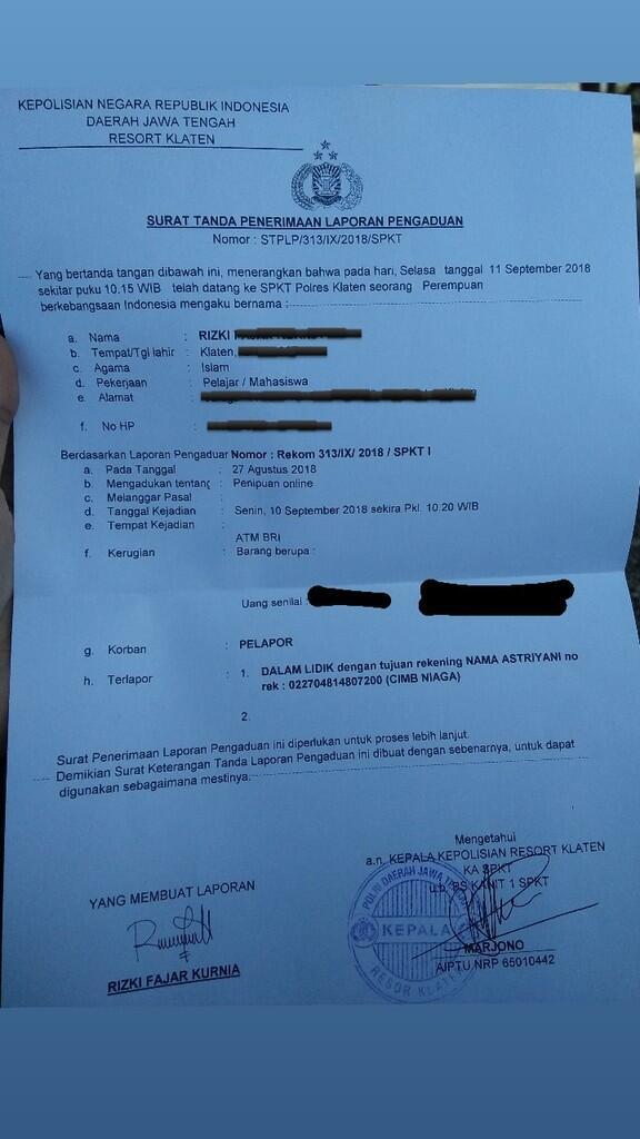 Penipuan di IG @toko_ridwan58 , @toko_ridwanfirmansyah88, dan masih banyak akun palsu