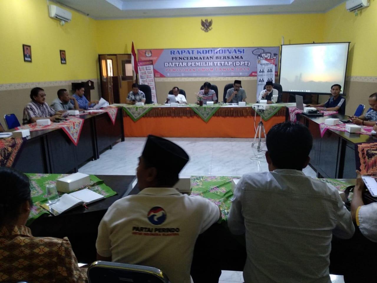 KPU Sampang Fokus Mencermati DPT Pemilu 2019 yang Berpotensi Ganda dan Invalid