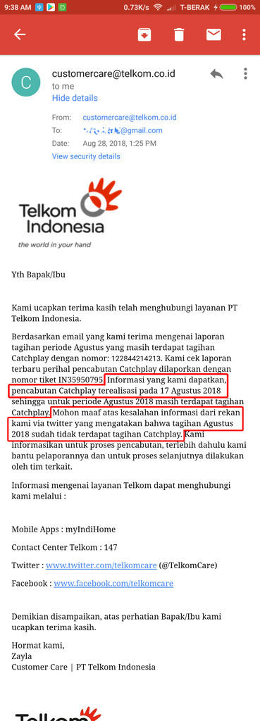 """TERAMPOK"" Telkom (indihome) karena tagihan INTERNET CONTENT"