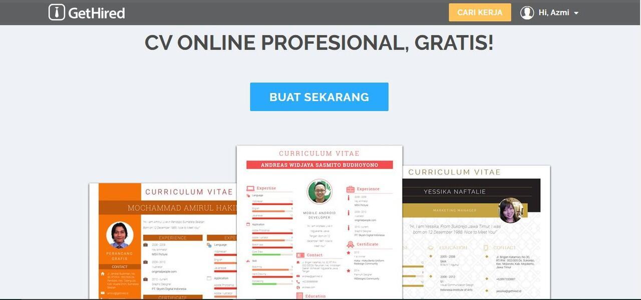 Buat CV keren dengan Website ini!