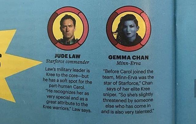 Deskripsi Para Karakter Di Film Captain Marvel