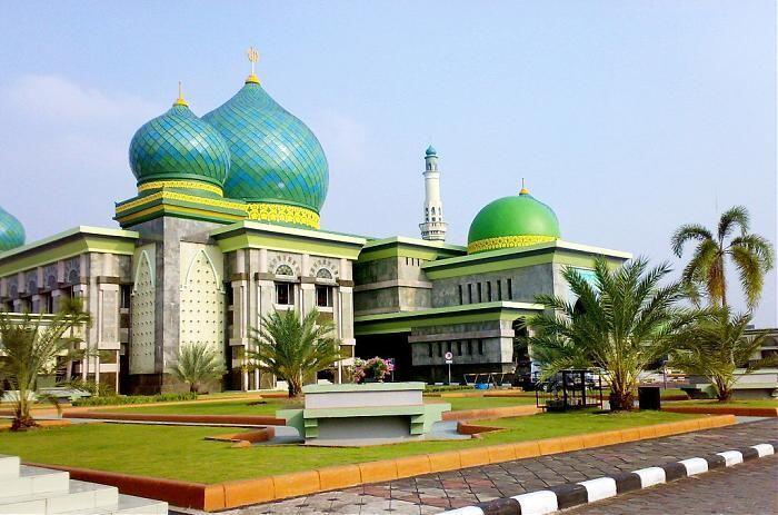 9 Potret Kemegahan Masjid Agung An Nur, Taj Mahalnya Provinsi Riau