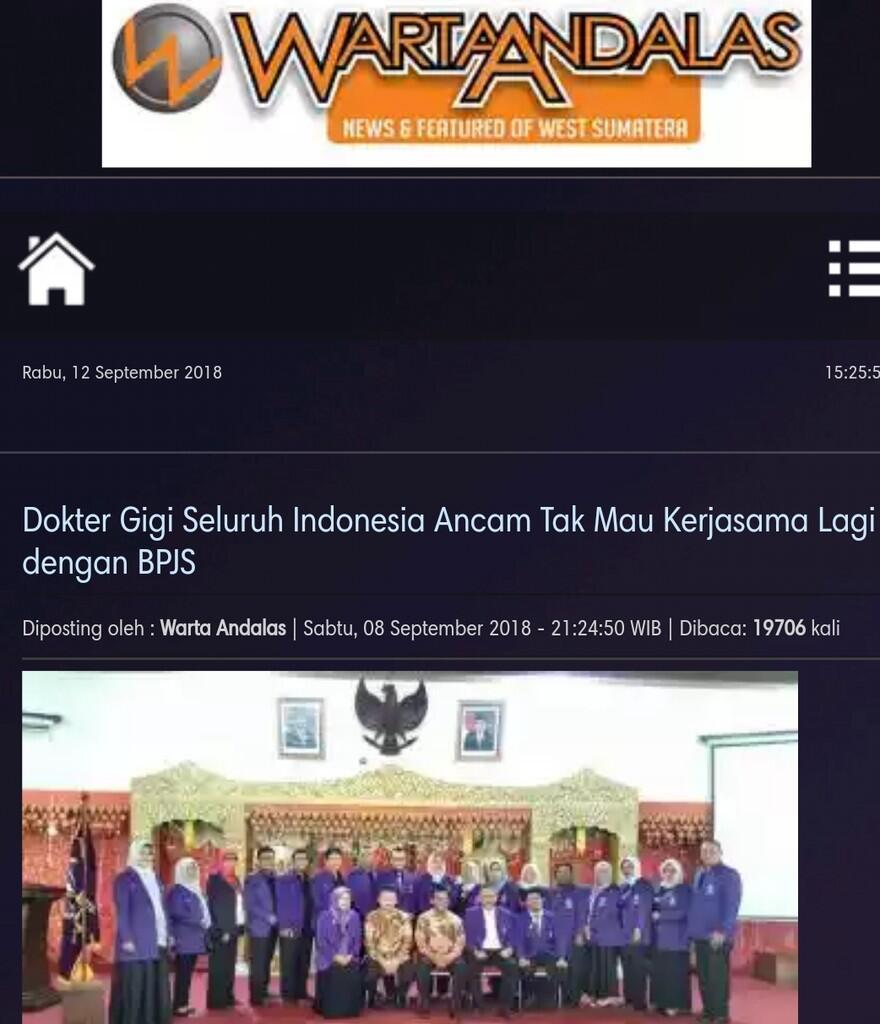 Dokter Gigi Seluruh Indonesia Ancam Tak Mau Kerjasama Lagi dengan BPJS