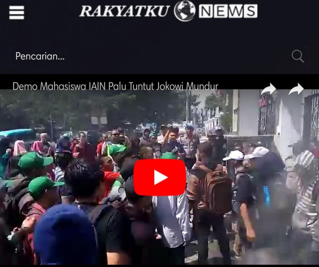 Mahasiswa Demo Jokowi di Palu, Polisi Siram Pendemo dan Padamkan Api Aksi Bakar Ban