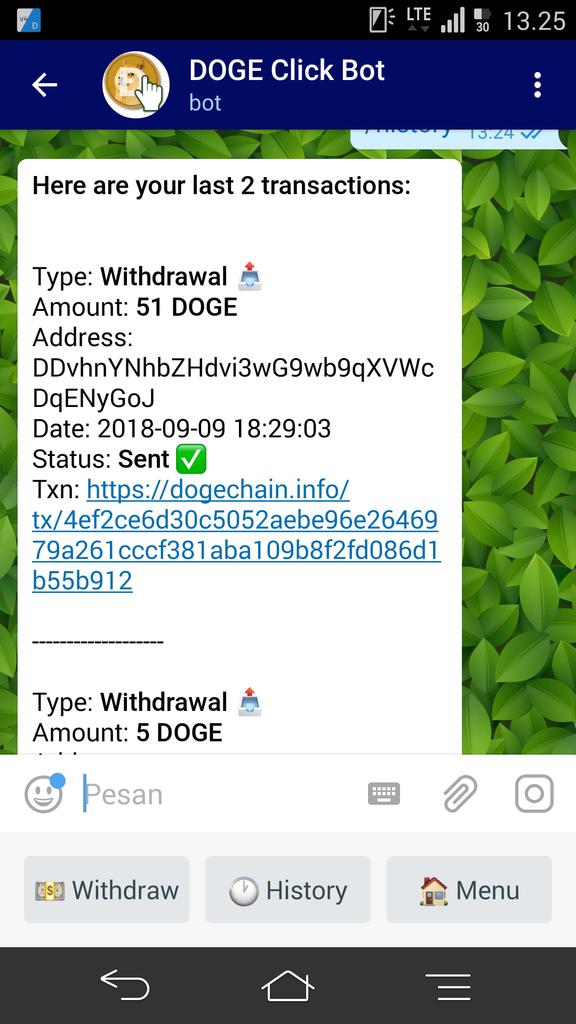 Bot Telegram tanpa modal.