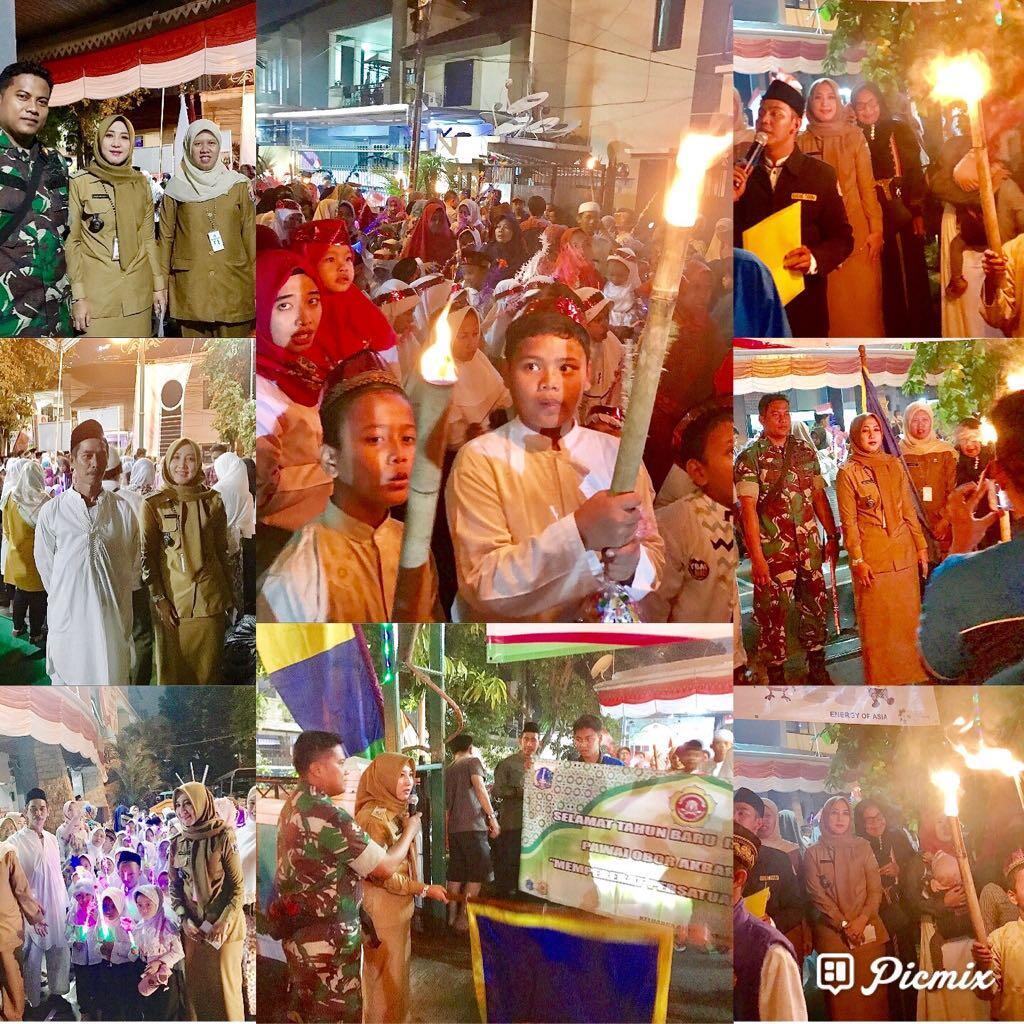 Tahun Baru Islam, Karang Taruna Karkun Gelar Lomba Pawai Obor