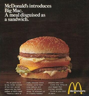 Hal Unik yang Belum Agan Ketahui tentang Burger McDonald's : Big Mac
