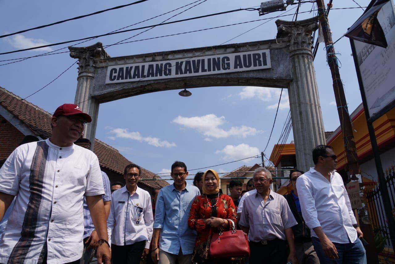 Di Kampung Polowijen Malang, Sandiaga Singgung Ekonomi Berbasis Budaya