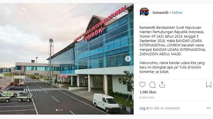 Bandara Lombok Ganti Nama, Ada Dugaan Modus Jokowi Copot Prasasti SBY