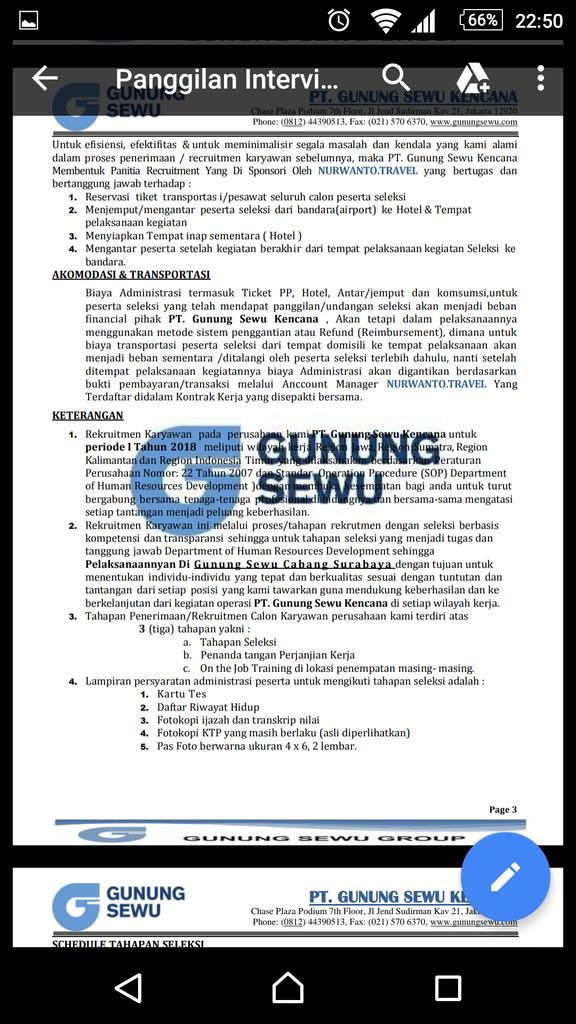 Penipuan travel agen untuk interview gunung sewu group