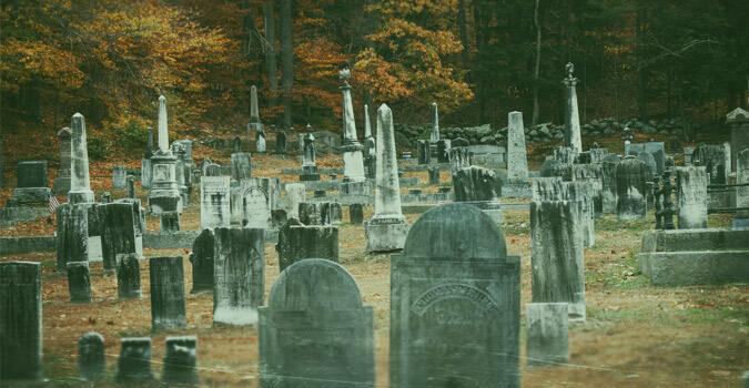 "Makam Carl Pruitt yang dulu dipercaya punya kutukan ""RANTAI"" (1938)."