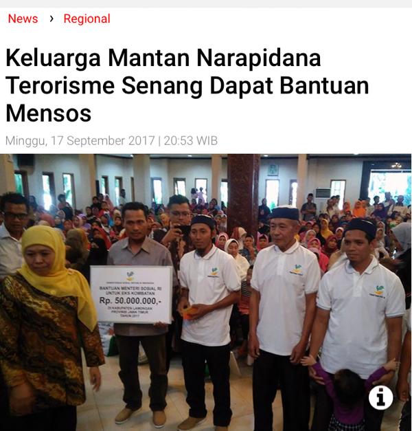Pemerintah Didesak Terbitkan PP Tentang Hak Korban Terorisme