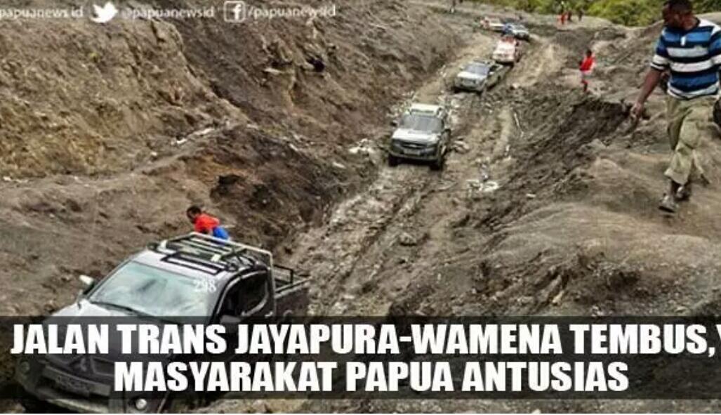 Jalan Trans Jayapura-Wamena Tembus, Masyarakat Papua Antusias