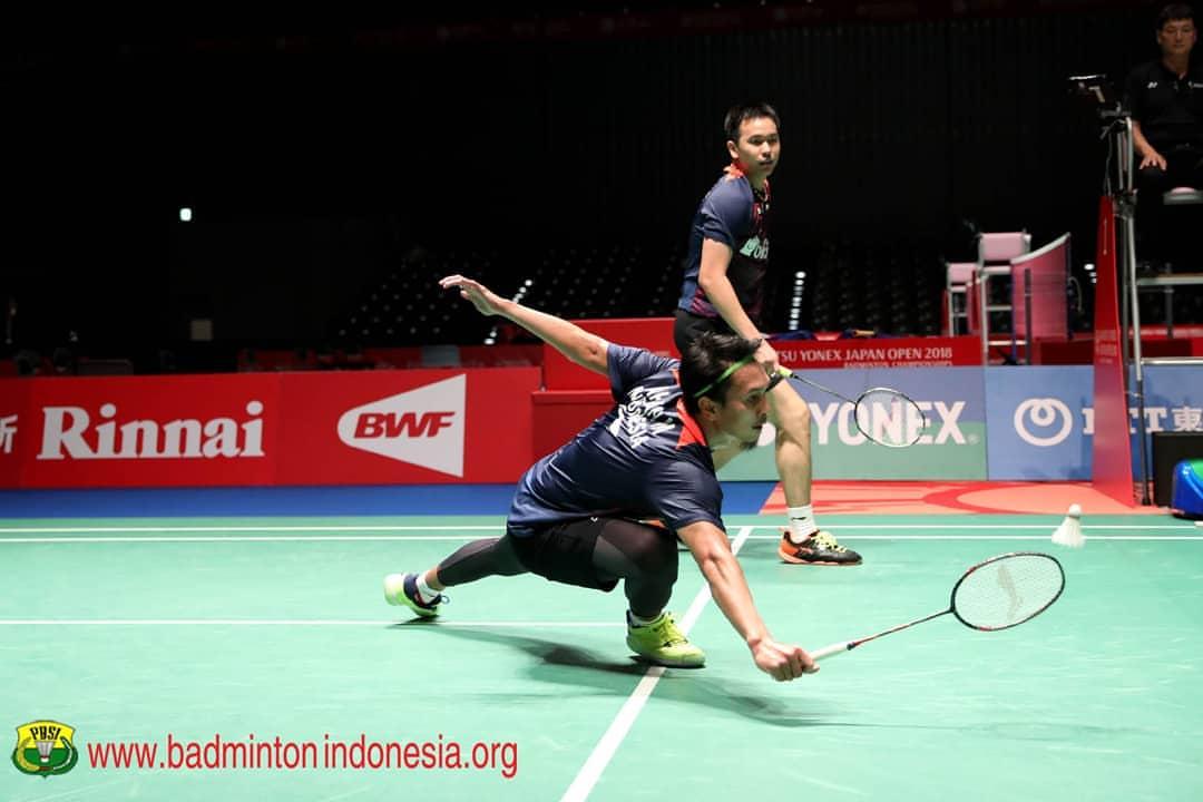 Japan Open 2018: Cedera Pinggang, Ahsan/Hendra WO