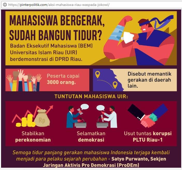 Jokowi Masih Merasa Tenang, Lihat Nih Ancaman Gejolak Mahasiswa Berbagai Daerah ...