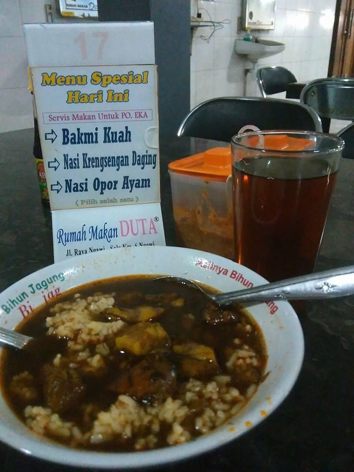 rawon rumah makan duta ngawi