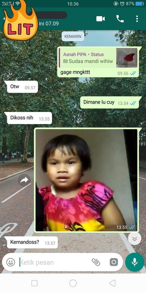 """Ini nih chat pakai foto bocah yang lagi viral! """"Main Yuk"""""""