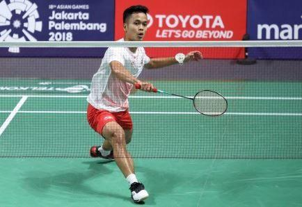 Langkah Anthony Ginting Terhenti di Japan Open 2018