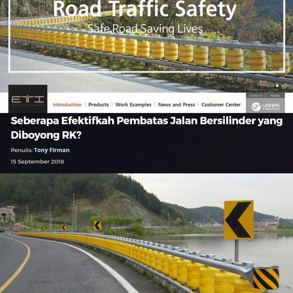 Seberapa Efektifkah Pembatas Jalan Bersilinder yang Diboyong RK?
