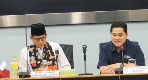 Beda Kubu di Pilpres: Saham Erick Thohir Melesat, Saham Sandi Melorot