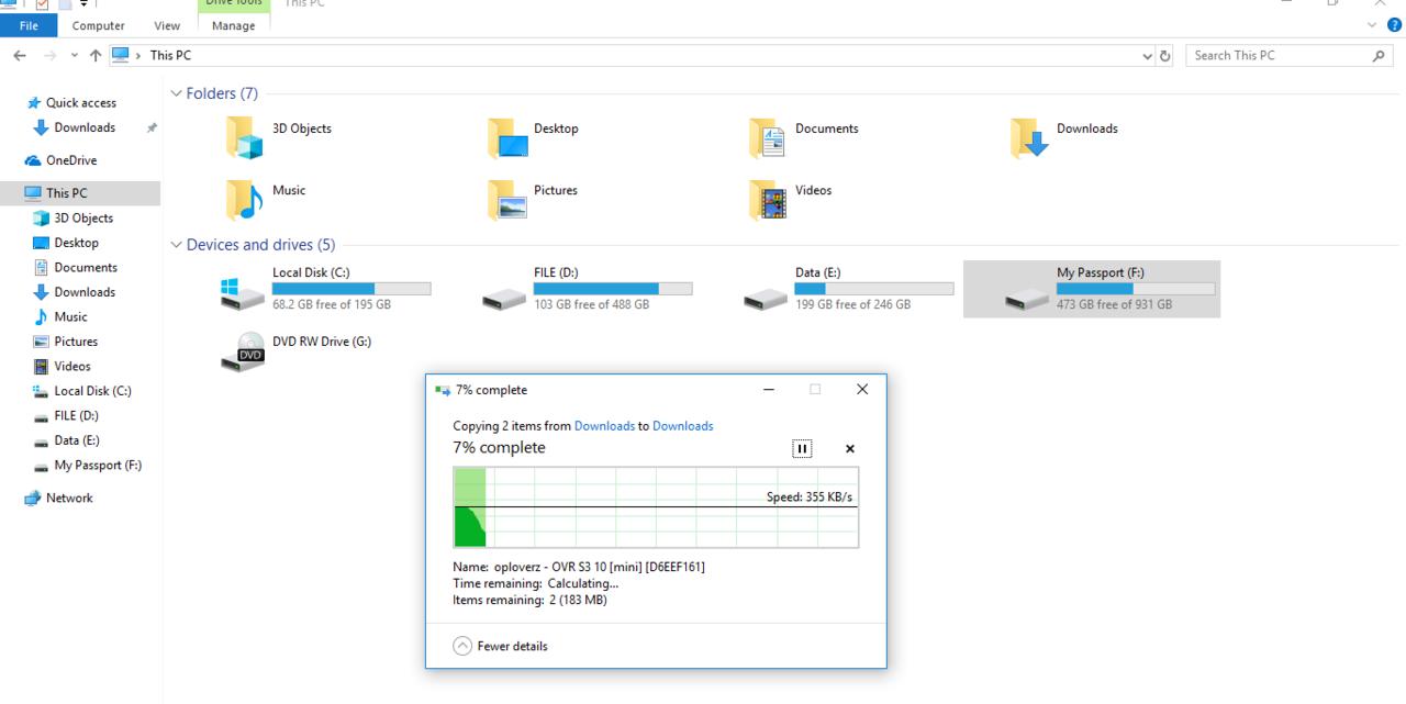 PROBLEM HDD EX