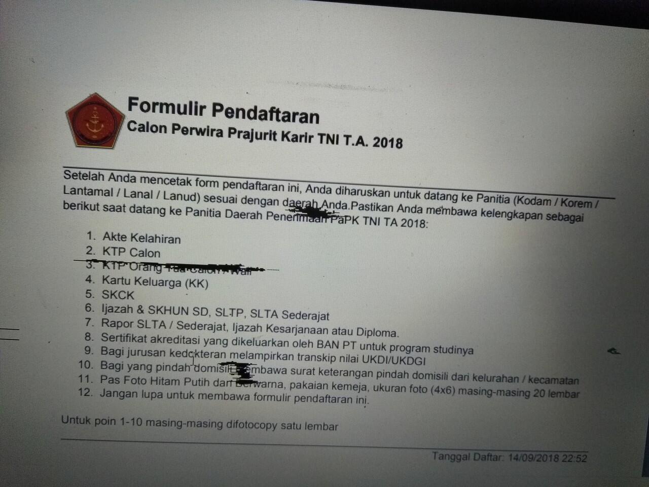 Contoh Surat Lamaran Menjadi Prajurit Tni Ad - Kumpulan ...