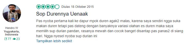 Menu Durian Mblenger Khas Dapur Mpok Duren Kaskus