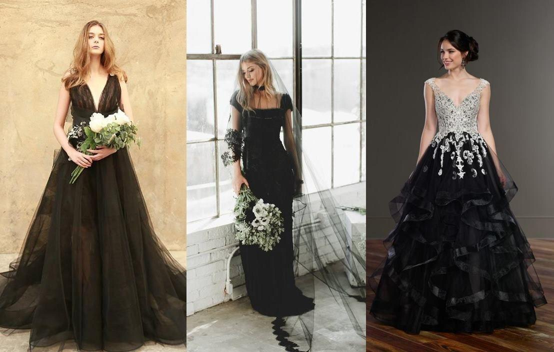 Bukan Putih 10 Wedding Dress Warna Hitam Ini Malah Bikin Kamu
