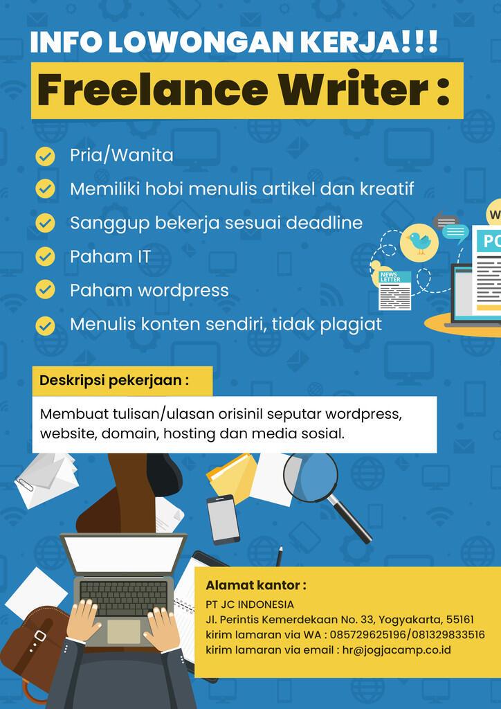 Lowongan Freelance Writer (Yogyakarta)