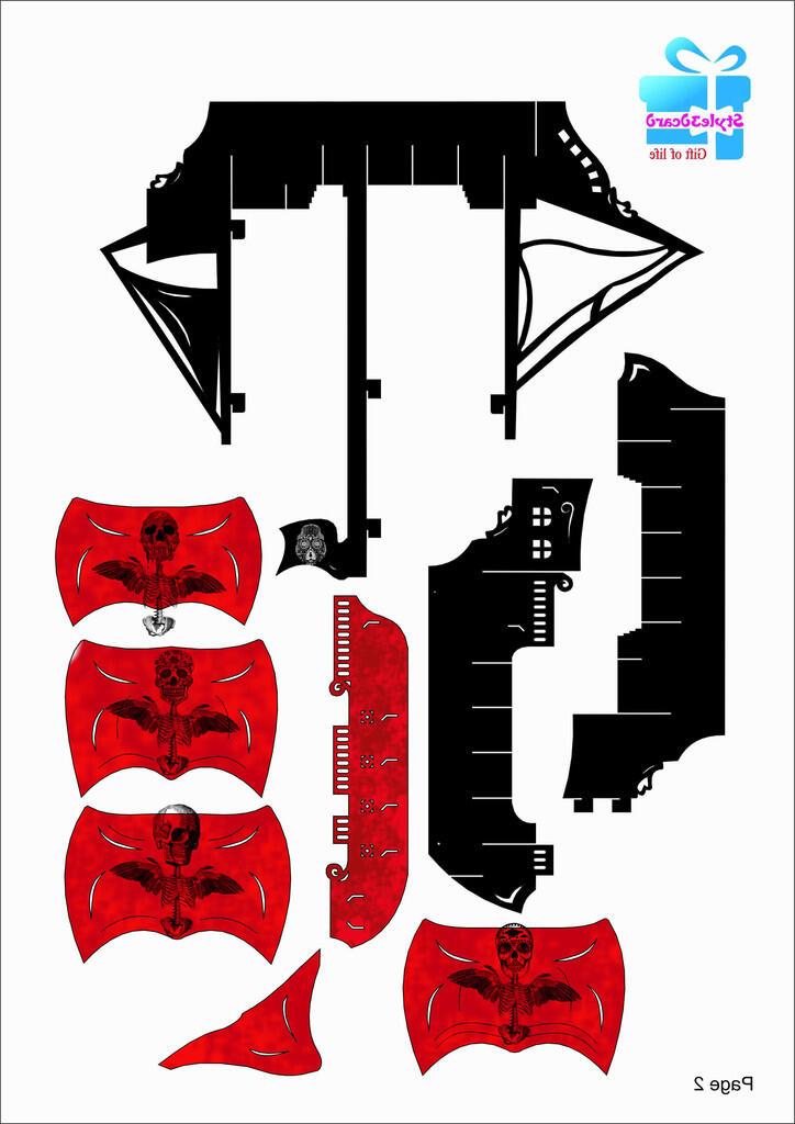 seputar kirigami,Tutorial dan kirigami ship (pop-up card unik nih gan)