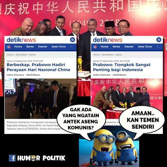 Timses Jokowi Sindir Prabowo Lagi Digoda China
