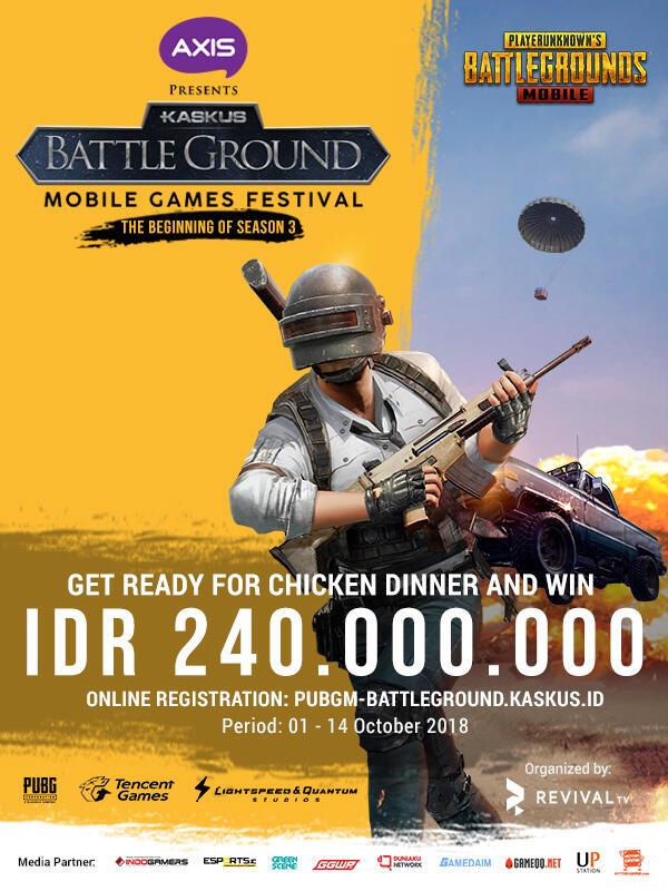 Chicken Dinner di KASKUS Battleground PUBG Mobile Dapat 240 Juta Rupiah!