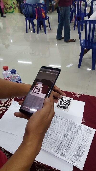 QR Code Bantu Registrasi Ulang Acara Lomba Mewarnai dan Menggambar