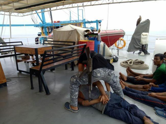 ABK Kapal Malaysia Nyabu di Laut Sambil Nangkap Ikan Ilegal di Laut Indonesia