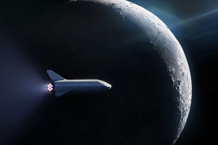 SpaceX Berencana Luncurkan Warga Sipil Pertama Mengelilingi Bulan