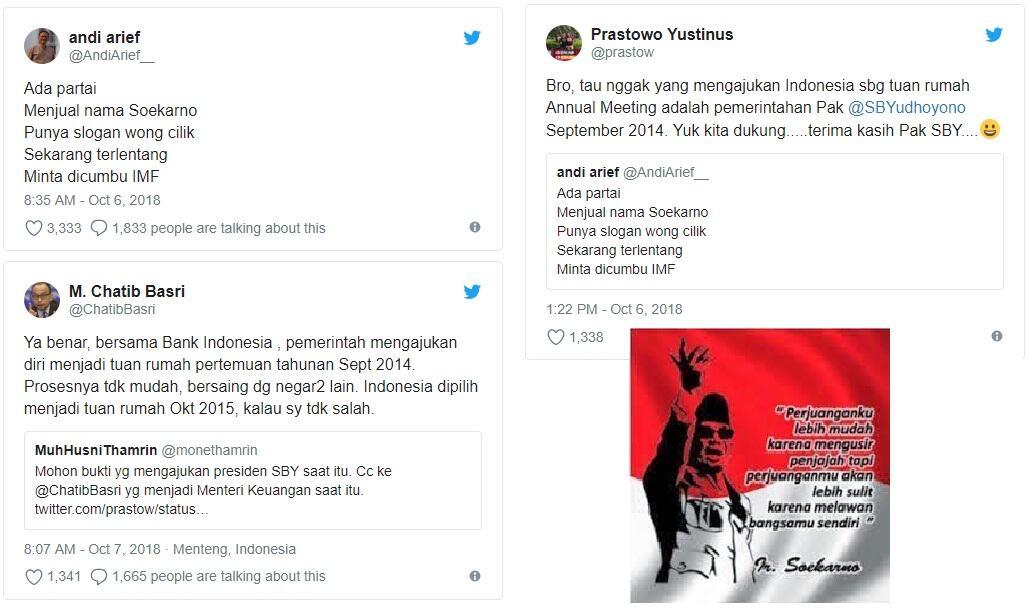 Andi Arief Sebut Rentenir (di Sidang IMF) Kumpul di Bali, Rayakan Duka Palu ...