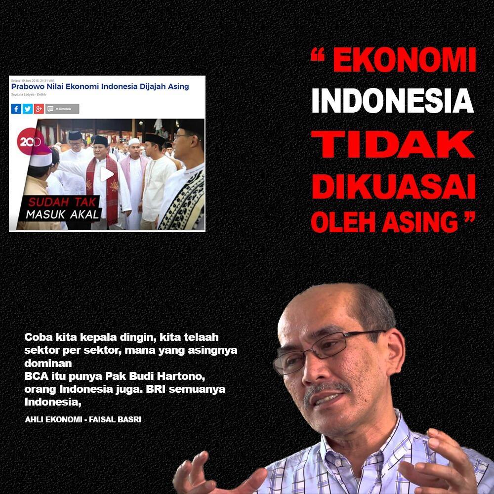 Prabowo Nilai Ekonomi Indonesia di Jajah Asing ? Cek Kebenarannya Disini !