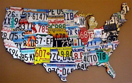 Warna-warni Plat Nomor di Amerika Serikat
