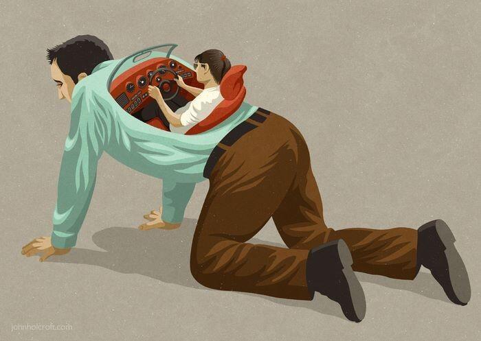 20 Ilustrasi yang Menggambarkan Manusia Masa Kini!