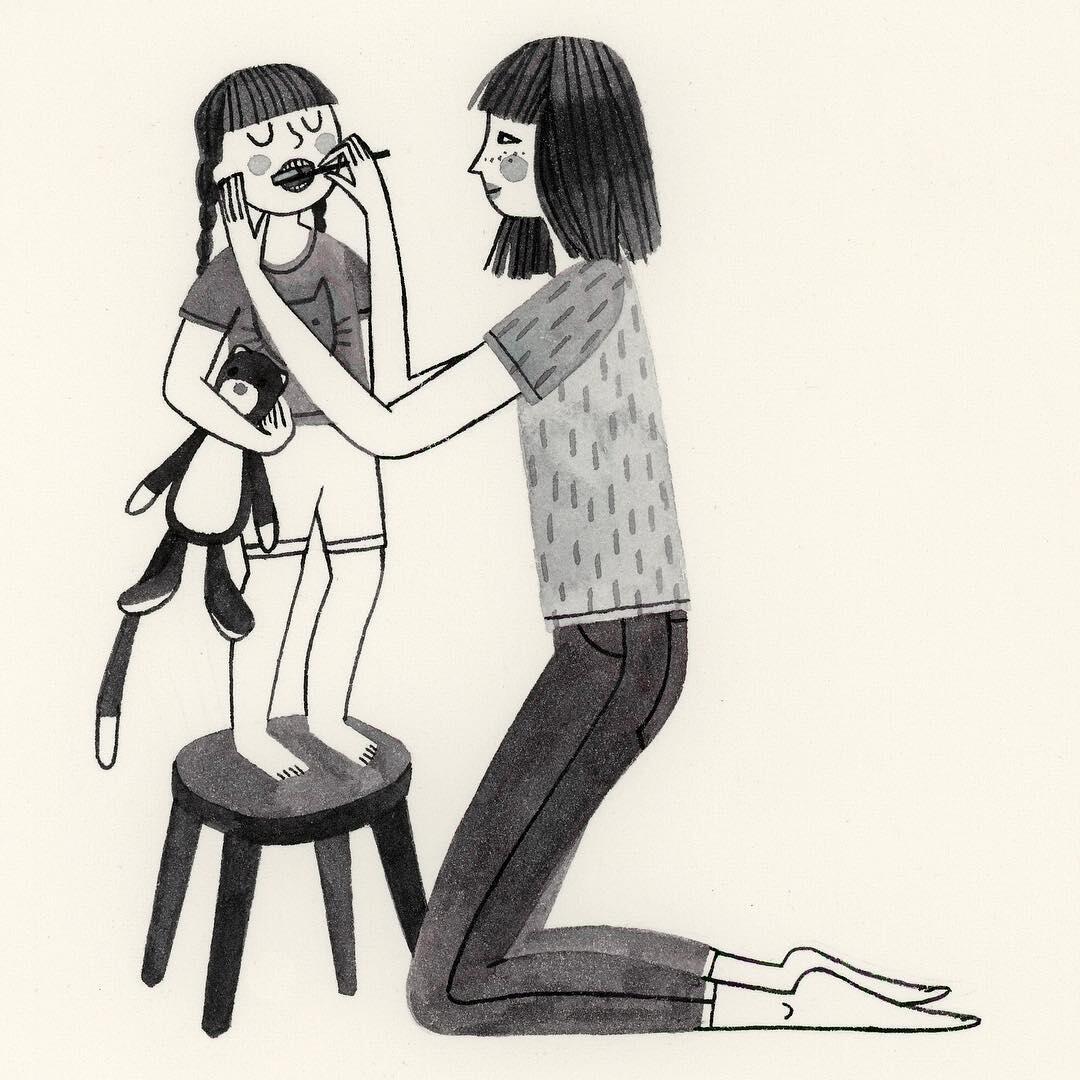 18 Ilustrasi Paling Menyentuh yang Gambarkan Kasih Sayang Ibu