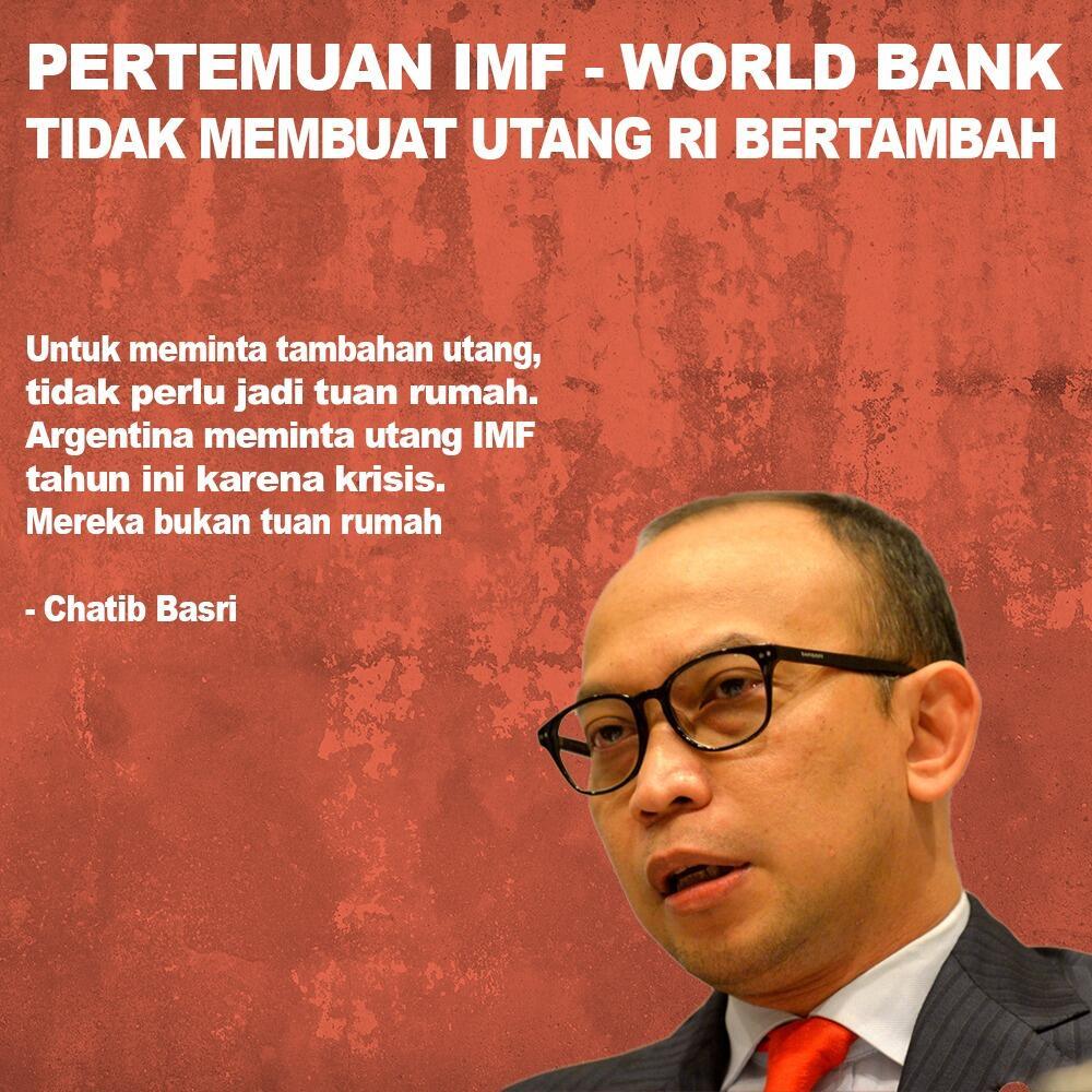 Pertemuan IMF - World Bank Tidak Membuat Utang RI Bertambah