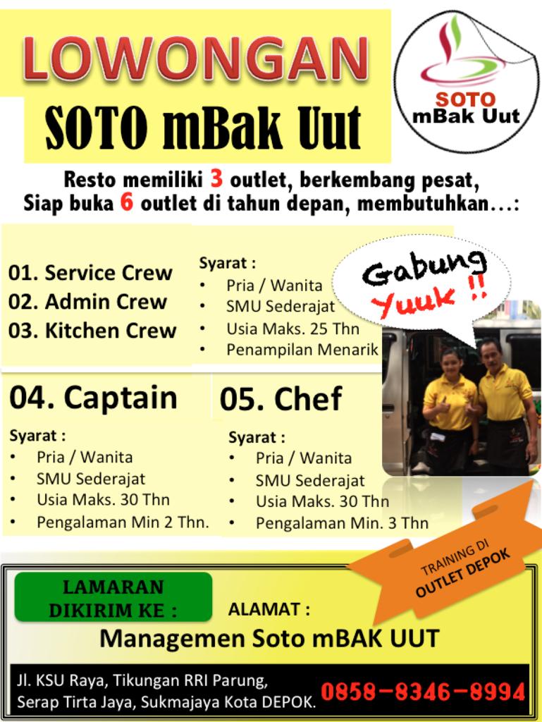 Tukang Masak, Chef, dan Crew SOTO