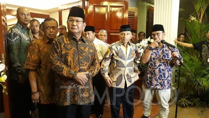 Tim Prabowo Anggap Pemanggilan Amien Rais Upaya Kriminalisasi