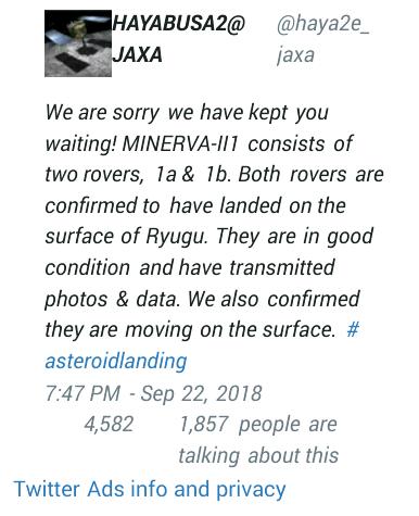 Pertama Kalinya 2 Robot Penjelajah Mendarat di Asteroid, Ini Misinya