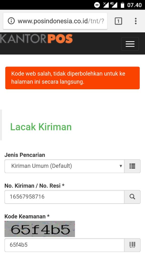 Cek Pengiriman Pos Indonesia Selalu Gagal