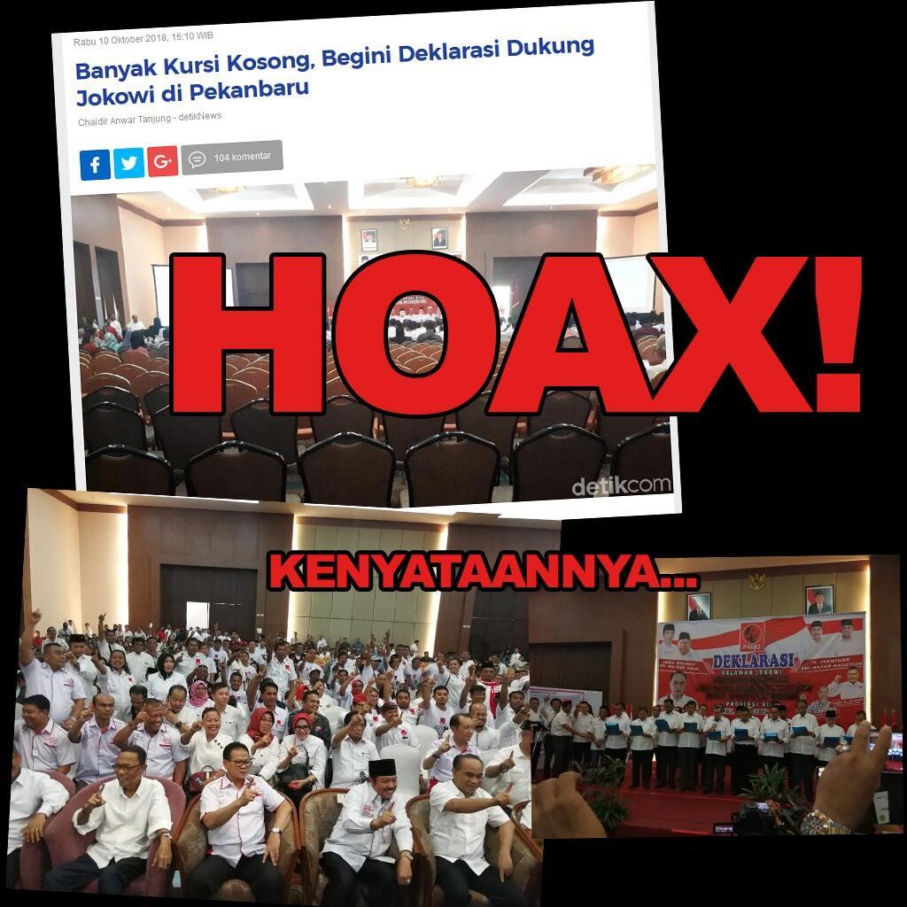 Ternyata Kursi Terisi Sangat Penuh Saat Deklarasi Dukung Jokowi di Pekanbaru