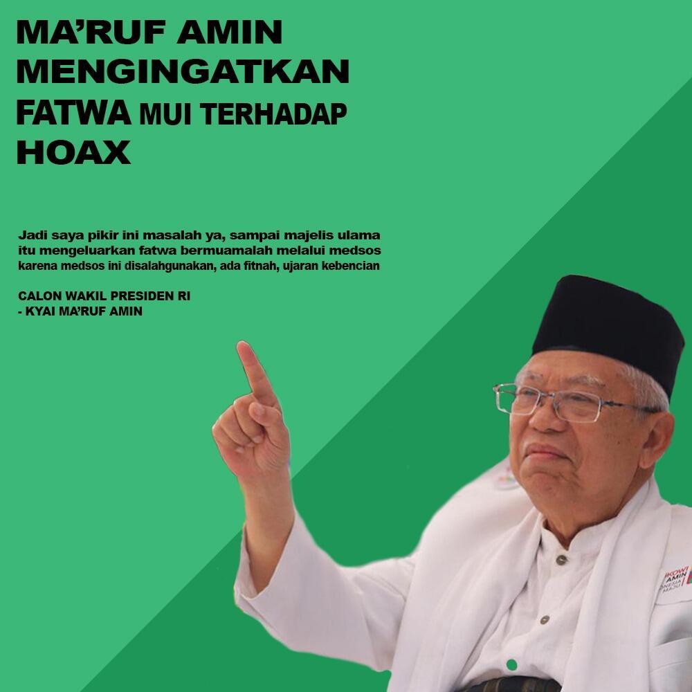 Ma'aruf Amin Mengingatkan Fatwa MUI Terhadap Hoax