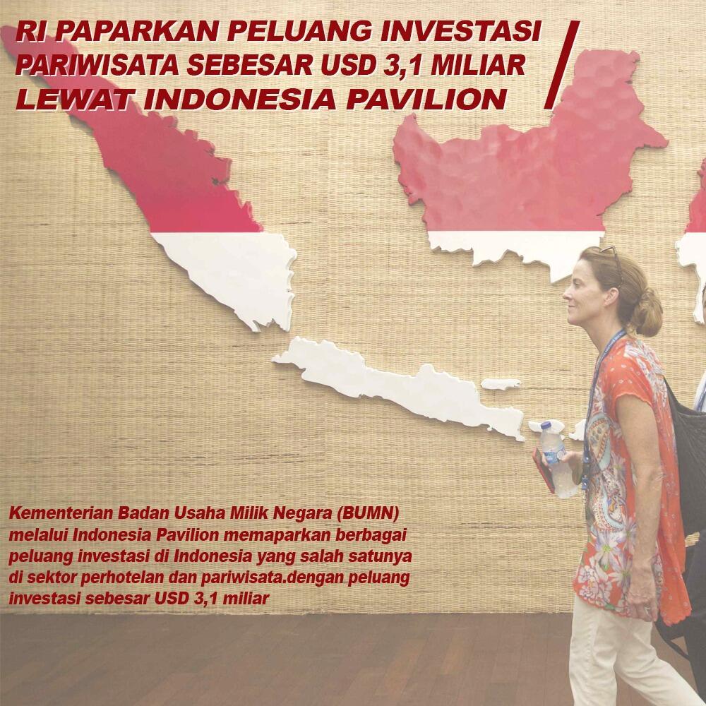 RI Paparkan Peluang Investasi Pariwisata Sebesar $3,1 Miliar Lewat Indonesia Pavilion
